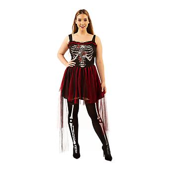 Womens Day of the Dead Bride Halloween Fancy Dres Kostüm
