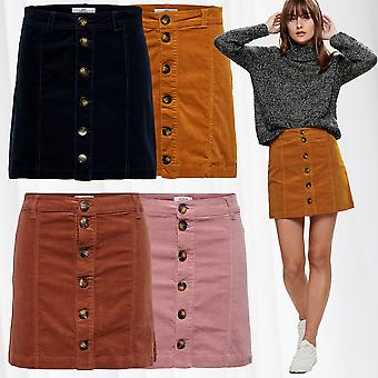 JDY ladies mini skirt made of fine cord retro JDYERA leisure casual 70s