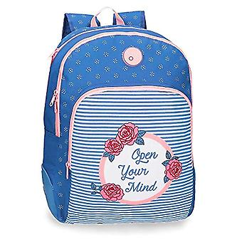 Double Compartment Adaptable School Backpack - 44 cm Roll Road Rose