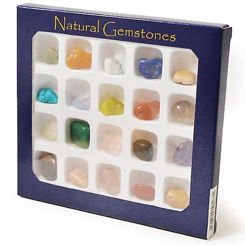 Natural Gemstones Box (20 Stones)