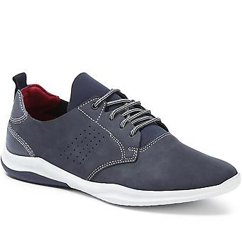 Lace-up leather trainer - zen