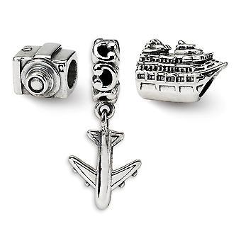 925 Sterling Silber Geschenk Boxed Finish Reflexionen Reise Bug Boxed Perle Anhänger Anhänger Halskette Set Schmuck Geschenke für Wom
