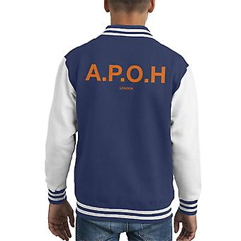 A.P.O.H Classic Orange Logo Kid's Varsity Jacket