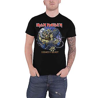 Iron Maiden T shirt Eddie Chained legacy of the Beast officiële mens zwart