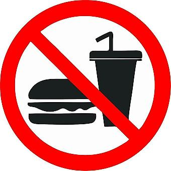 Autocollant Sticker Magasin Interdit Ne Pas Manger Nourriture Boisson Panneau