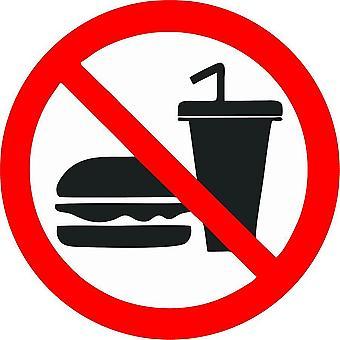 Pegatina Tienda Prohibida No Comer Comida Bebida Panel