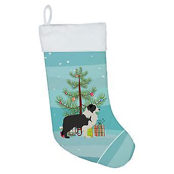 Musta reunus Collie Merry joulu kuusi joulu sukat
