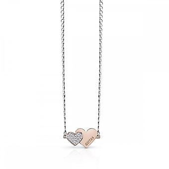 Guess Jewellery Guess Me And You Double Heart Necklace UBN84076
