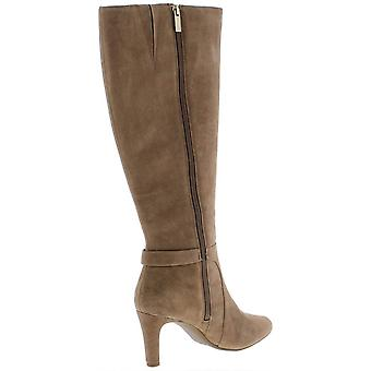 Bandolino Womens lella Suede Closed Toe Knee High Cowboy Boots