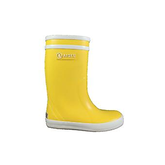 Aigle Lolly Pop Yellow Rubber Wellington Boots