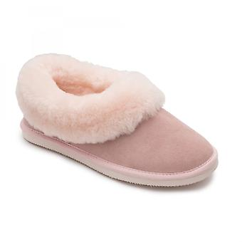 Padders Cuddle Ladies Sheepskin Extra Wide (2e) Slippers Pink