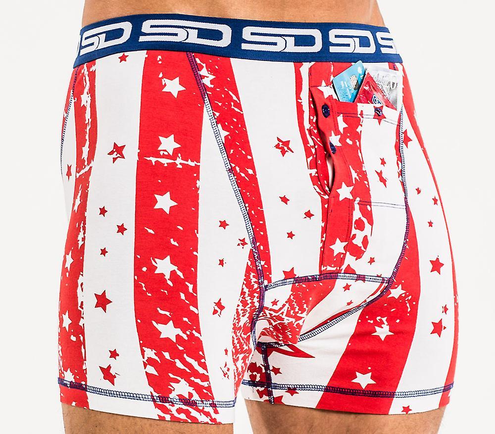 Smuggling Duds Pocket Underwear - Star Spangled