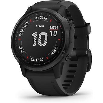 Garmin Fenix 6S Pro, Ultimate Multisport GPS Watch, Smaller-Sized, Black with Black Band