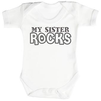 Mijn zus rotsen Baby Romper / Babygrow