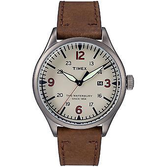 Timex мужские часы Уотербери кожи традиционное 40 мм TW2R38600
