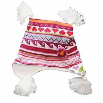 Bebê de malha Tri milho Beanie térmica de inverno quente chapéu 0-3 anos branco