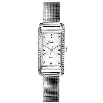 Horloge Certus 633423-JOALIA rechthoek zilver staal Milanese vrouwen Sertie Lunette