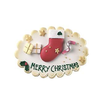 Culpitt glædelig jul sukker plaque-single