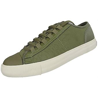 G-Star Lace Up White Canvas Khaki Trainers