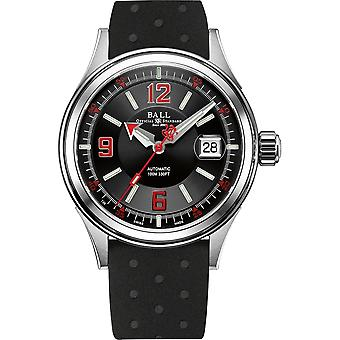 Ball NM2088C-P2J-BKRD Fireman Racer Wristwatch Black