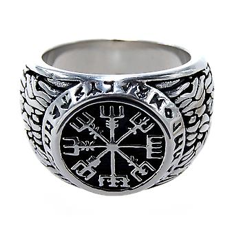 Ring Viking compass, gr. 52-77 (edwk) - stainless steel