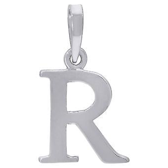 925 Sterling Silver Mens Vrouwen Letter Naam Gepersonaliseerde Monogram Initial R Charm Hanger Ketting Maatregelen 20.7x12mm Wid