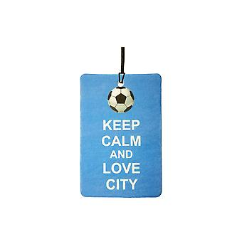 Keep Calm And Love Man City Car Air Freshener
