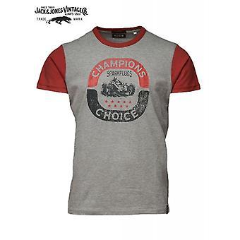 Jack & Jones Vintage T-shirt Grand Rally Light Grey Melange