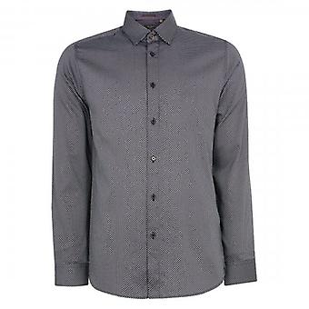 Ted Baker Chemise LS Geo Tryckt SS Shirt Navy