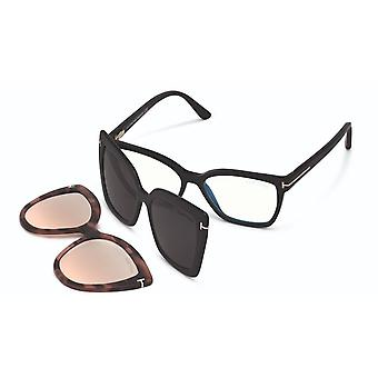 Tom Ford TF5641-B With Clip-on 001 Shiny Black Glasses