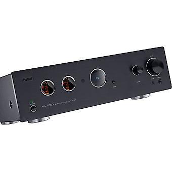 Magnat MA 1000, high-end hybrid fuld forstærker med rørforløber og transistor slutfase, sort, nyt merchandise