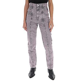 Isabel Marant ÉToile Pa151720p017e80lr Women's Lilac Cotton Jeans