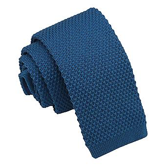 Cerulean Blue Knitted Tie for Boys