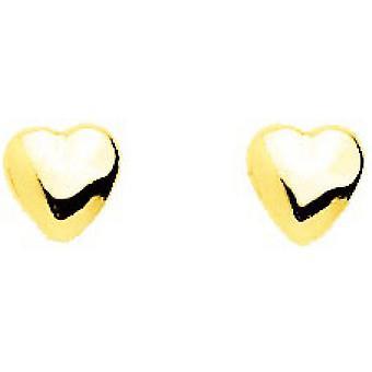 Herzen Ohrringe Gold 750/1000 gelb (18K)