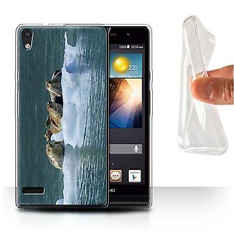 STUFF4 Gel TPU Case/Cover for Huawei Ascend P6/Seals/Ice/Marine Wildlife