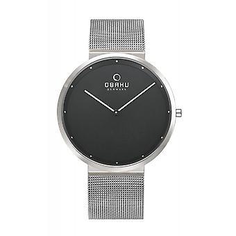 Obaku Papir Onyx Men's Wristwatch V230GXCBMC