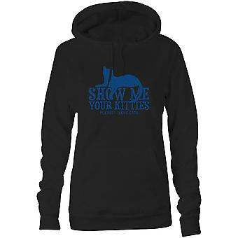 Womens Sweatshirts Hooded Hoodie- Show Me Your Kitties Please? I Love Cats