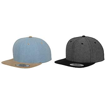 Yupoong Flexfit Unisex Chambray-Suede Snapback Cap