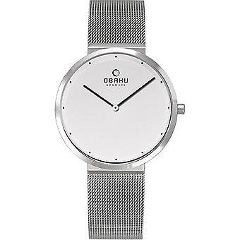 Obaku Papir Lille Steel Women's Wristwatch V230LXCWMC