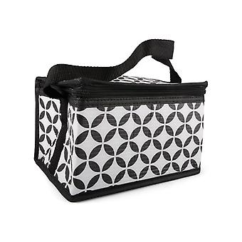 Cooler Bag schwarz/weiß gemustert