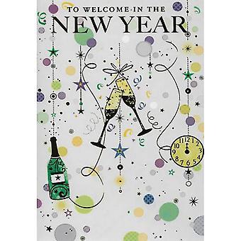 Simon Elvin Strings New Year Wishes Cards (Pack de 6)