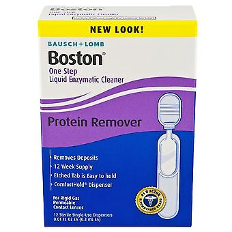 Bausch + lomb boston one step liquid enzymatic cleaner, 12 ea