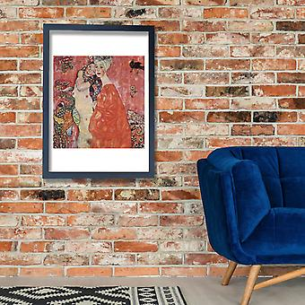Gustav Klimt - Orange Dress Poster Print Giclee