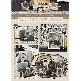 Studio Light Die cut blocs A4 12 vellen Classic Gentlemen nr 80 STANSBLOKSL80