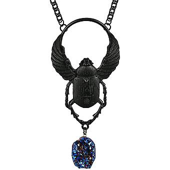 Restyle - black scarab - necklace and pendant