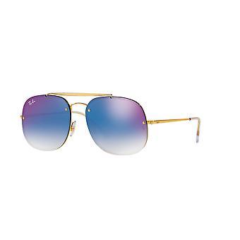 راي بان RB3583N 001/X0 الذهب / الأزرق التدرج مرآة النظارات الشمسية