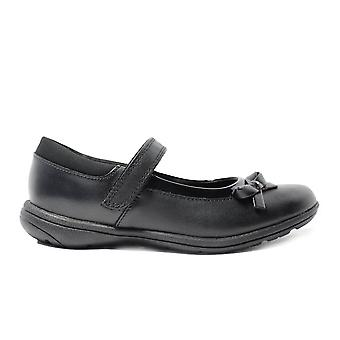 Clarks Venture Star Black Leather Girls Mary Jane School Shoes