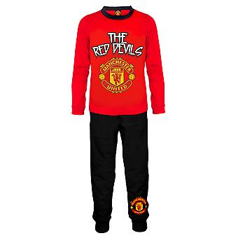 Manchester United FC Official Football Gift Boys Peuter Kids Pyjamas