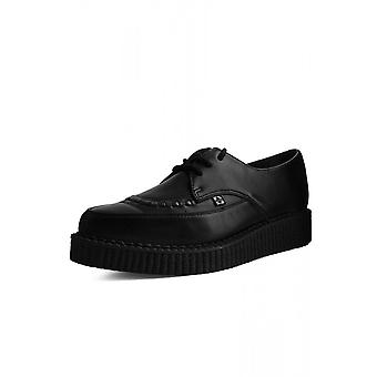 TUK Shoes Black TUKskin™ Lace Up Pointed Creeper