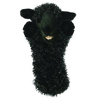 Nukkeyhtiö pitkähihainen musta lammas käsinukke
